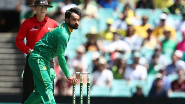 Mohammad Hafeez opened the bowling for his team