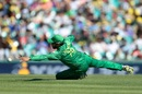 Azhar Ali stretches his left hand out in a bid to stop the ball, Australia v Pakistan, 4th ODI, Sydney, January 22, 2017