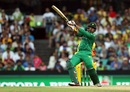 Sharjeel Khan launches it over midwicket for six, Australia v Pakistan, 4th ODI, Sydney, January 22, 2017