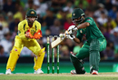 Mohammad Hafeez plays a late cut, Australia v Pakistan, 4th ODI, Sydney, January 22, 2017