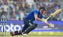 Ben Stokes falls over while playing a stroke, India v England, 3rd ODI, Kolkata, January 22, 2017