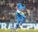 Yuvraj Singh pulls through the leg side, India v England, 3rd ODI, Kolkata, January 22, 2017