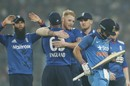 Ben Stokes celebrates after removing Virat Kohli, India v England, 3rd ODI, Kolkata, January 22, 2017
