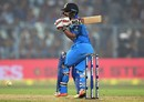 Kedar Jadhav swats one through the leg side, India v England, 3rd ODI, Kolkata, January 22, 2017