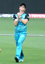 Kirby Short puts down a catch, Brisbane Heat v Adelaide Strikers, Women's Big Bash League 2016-17, Gabba, January 21, 2017