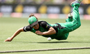 Emma Kearney puts in a slide at the boundary, Hobart Hurricanes v Melbourne Stars, Women's Big Bash League 2016-17, Hobart, January 21, 2017