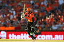 Sam Whiteman drives through the leg side, Perth Scorchers v Melbourne Stars, Perth, Big Bash League 2016-17, January 24, 2017
