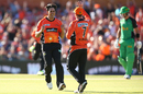 Mitchell Johnson celebrates after removing Kevin Pietersen, Perth Scorchers v Melbourne Stars, Perth, Big Bash League 2016-17, January 24, 2017