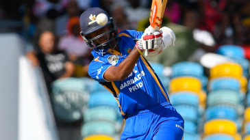 Kraigg Brathwaite drives during his 101 off 146 balls