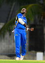 Ashley Nurse celebrates after taking one of his four wickets, Barbados v Guyana, Regional Super50, Group B, Bridgetown, January 24, 2017