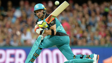 Brendon McCullum plays a sweep during his 46