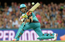 Brendon McCullum plays a sweep during his 46, Brisbane Heat v Sydney Sixers, Big Bash League 2016-17, semi-final, Brisbane, January 25, 2017
