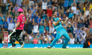 Ben Cutting celebrates the wicket of Johan Botha, Brisbane Heat v Sydney Sixers, Big Bash League 2016-17, semi-final, Brisbane, January 25, 2017