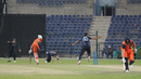 Safyaan Sharif completes the runout of Paul van Meekeren to end the match, Netherlands v Scotland, Desert T20, Group B, Abu Dhabi, January 17, 2017