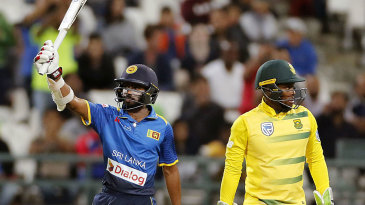 Niroshan Dickwella brought up his maiden T20I fifty