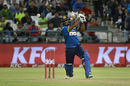 Seekkuge Prasanna drills a shot through the off side, South Africa v Sri Lanka, 3rd T20, Cape Town, January 25, 2017