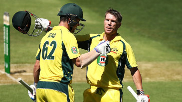 David Warner and Travis Head brought up the highest first-wicket partnership by an Australian pair in ODIs