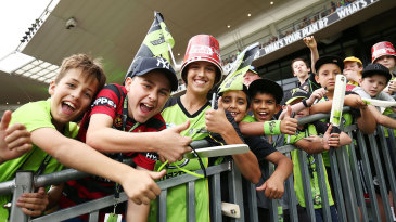 Kids at a Big Bash League game