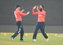 Eoin Morgan congratulates Moeen Ali on removing Virat Kohli, India v England, 1st T20I, Kanpur, January 26, 2017