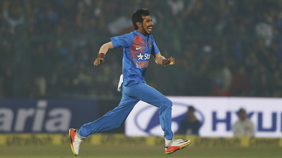 Yuzvendra Chahal struck twice in the fourth over