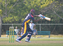 Cassius Burton cuts on the way to finishing 38 not out, Combined Campuses & Colleges v ICC Americas, Regional Super50, Group B, Windward Park, January 26, 2017