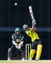 Chadwick Walton drives over the off side during his half-century, Guyana v Jamaica, Regional Super50, Group B, Bridgetown, January 26, 2017