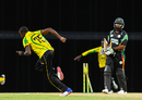 Jerome Taylor celebrates after bowling Assad Fudadin, Guyana v Jamaica, Regional Super50, Group B, Bridgetown, January 26, 2017