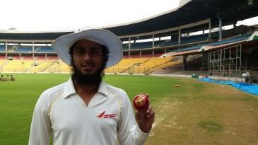 Sarfaraz Ashraf poses with the ball