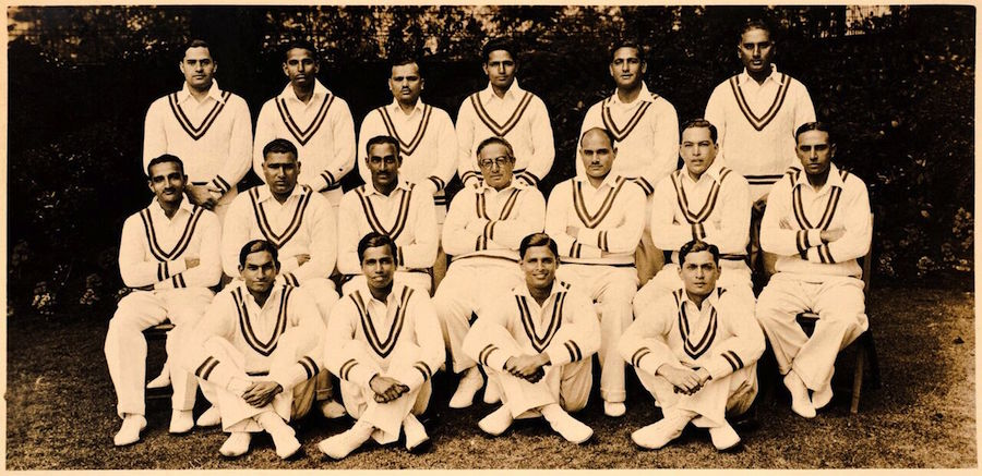 Jilani (back row, first from left) played on the animosity between captain Vizzy (middle row, fourth from left) and CK Nayudu (middle row, third from left) to earn a Test cap