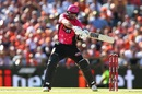 Michael Lumb cuts the ball away to the boundary, Perth Scorchers v Sydney Sixers, BBL 2016-17, Final, Perth, January 28, 2017