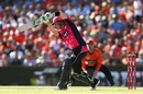 Brad Haddin executes a drive on the up, Perth Scorchers v Sydney Sixers, BBL 2016-17, Final, Perth, January 28, 2017