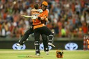 Ian Bell and Michael Klinger embrace after the winning runs were struck, Perth Scorchers v Sydney Sixers, BBL 2016-17, Final, Perth, January 28, 2017