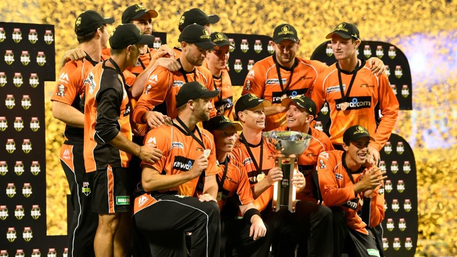 The Perth Scorchers got their hands on the BBL trophy for the third time