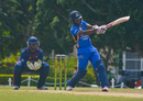 Kraigg Brathwaite pulls during his unbeaten 43, Barbados v ICC Americas, Regional Super50, Group B, Cave Hill, January 28, 2017