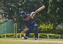 Jasdeep Singh loses one of his stumps, Barbados v ICC Americas, Regional Super50, Group B, Cave Hill, January 28, 2017