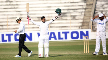 Liton Das celebrates his double-century