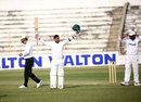 Liton Das celebrates his double-century, Central Zone v East Zone, Bangladesh Cricket League 2016-17, Bogra, 2nd day, January 29, 2017