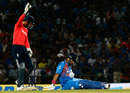 England appeal for an lbw after Yuvraj Singh gets himself into a tangle, India v England, 2nd T20, Nagpur, January 29, 2017