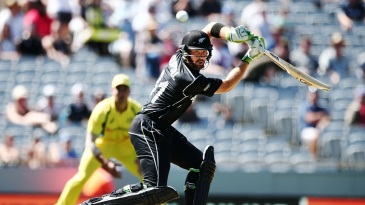 Martin Guptill steers the ball behind point