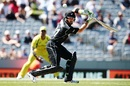 Martin Guptill steers the ball behind point, New Zealand v Australia, 1st ODI, Auckland, January 30, 2017