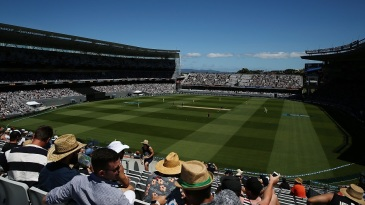 A general view of Eden Park, and its short boundaries