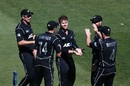 Lockie Ferguson was among the wickets, New Zealand v Australia, 1st ODI, Auckland, January 30, 2017