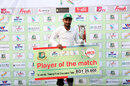 Liton Das with his spoils after being names Player of the Match, Central Zone v East Zone, Bangladesh Cricket League 2016-17, Bogra, 3rd day, January 30, 2017