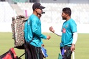 Imrul Kayes talks to his teammates during training, Dhaka, January 31, 2017