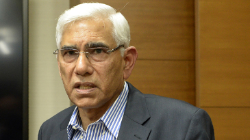 Vinod Rai, who heads the Supreme Court-appointed committee of administrators, speaks to the media