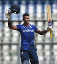 Delray Rawlins smashed an unbeaten 107 off 88 balls, India v England, 1st Under-19 ODI, Mumbai, January 30, 2017
