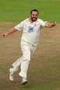 Steffan Jones is delighted after taking a wicket, Somerset v Lancashire, County Championship Division One, Taunton, 2nd day, September 25, 2008