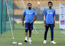 Two leggies are better than one: Amit Mishra and Yuzvendra Chahal at net practice, Bangalore, January 31, 2017