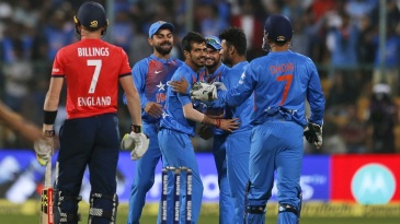 Yuzvendra Chahal removed Sam Billings in the second over