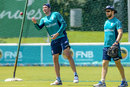 Jamie Overton and Kevin Shine take part in a training session, Potchefstroom, February 1, 2017